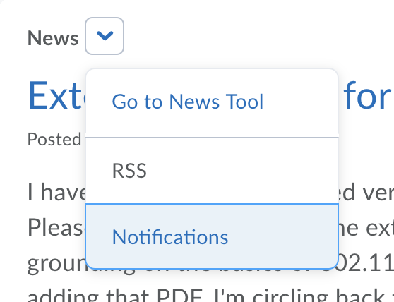 News Drop-down